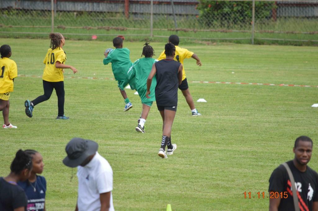 Joueurs en action