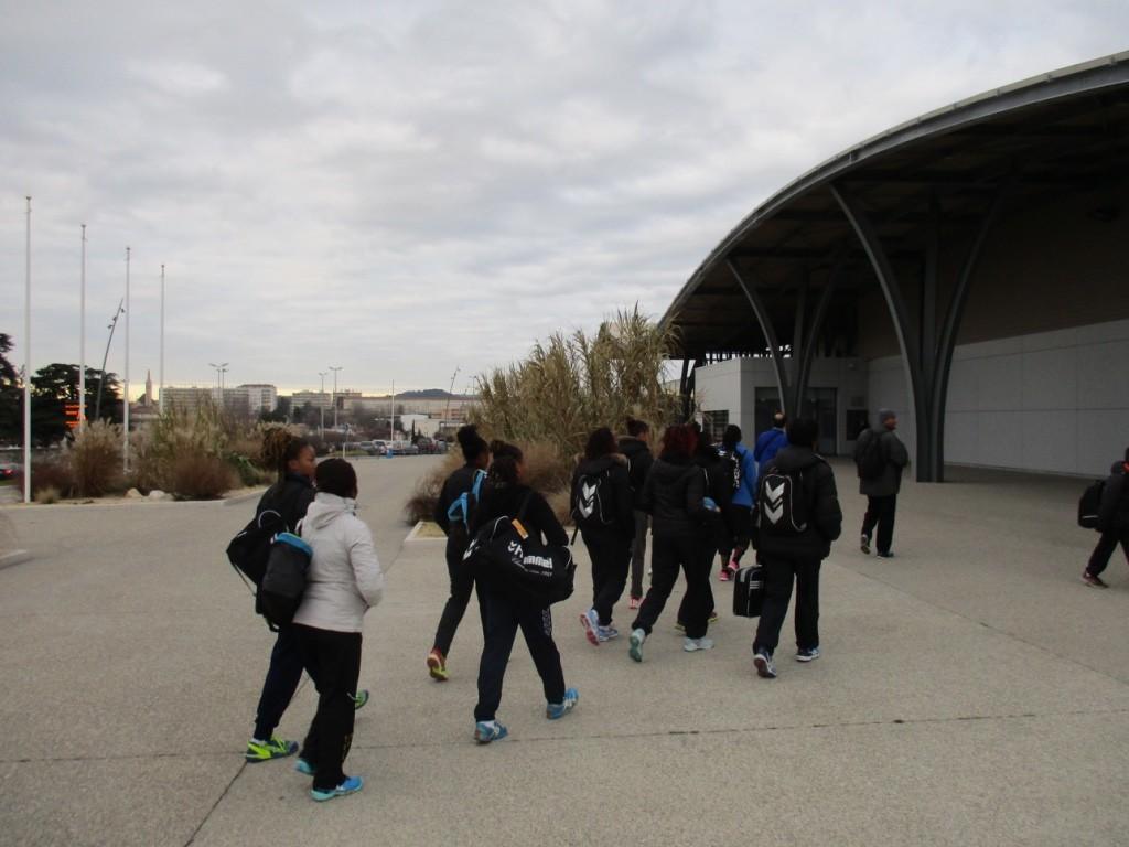 Direction entrainement au Complexe sportif de Bourg en Peage