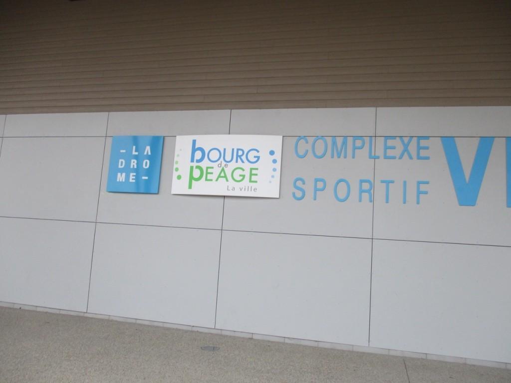Le complexe sportif de Bourg en Peage