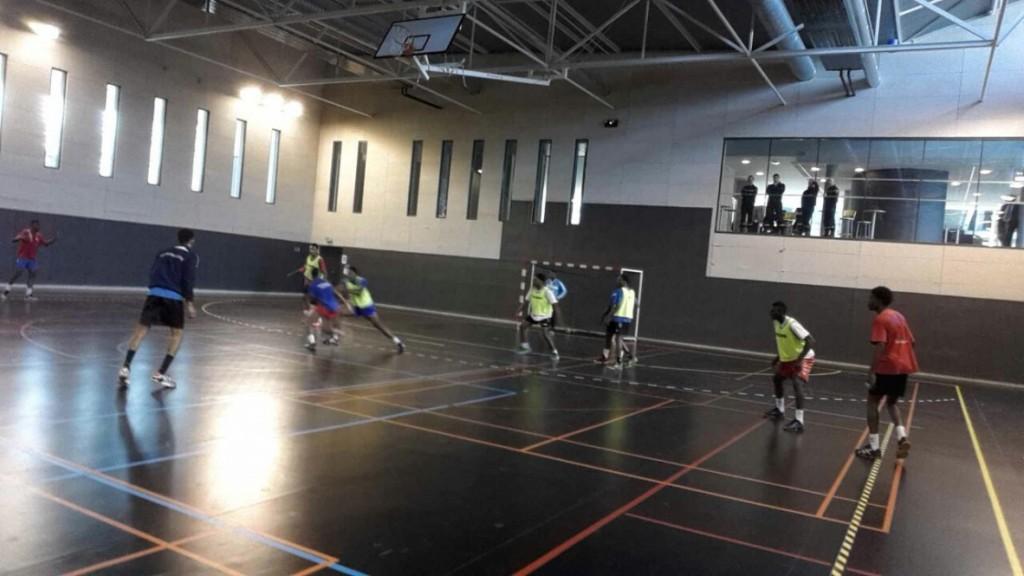 A l'entrainement au gymnase du SDIS de St Brice en Forêt le 17 mars 2016