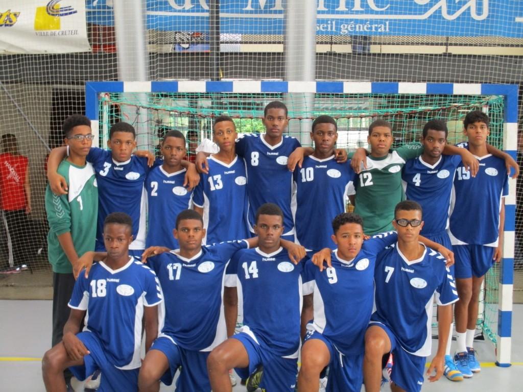 L\'équipe Interlignes Antilles-Guyane Garçons