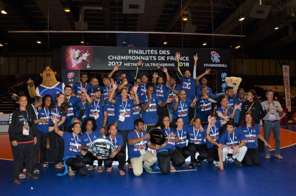 HBF St Denis et Case Cressonière de la Réunion champions ultramarins et vice-champions de N2 - 2018