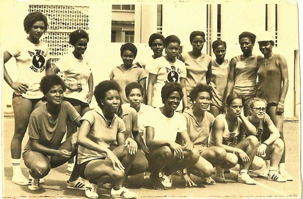 Présélection Féminine de Martinique 1974 - Christiane MEPA accroupie au premier rang à gauche.