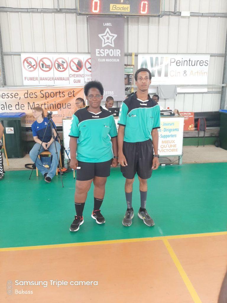 Jeunes Arbitres : Crétinoir et Jeranaud de la JSC Pelletier.