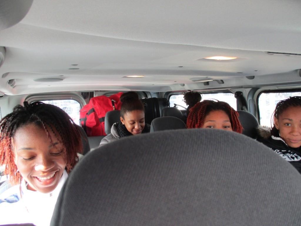 Dans le minibus en direction de Bourg de péage 29/01/16