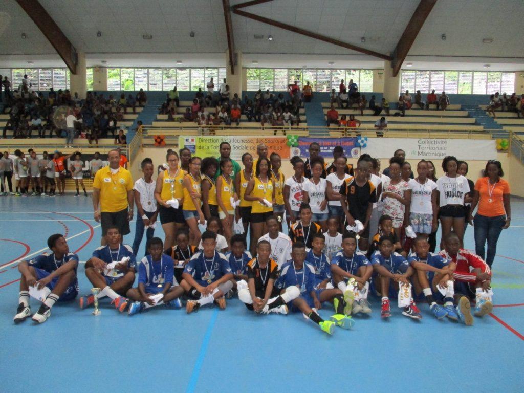 Les champions et vice champions U14