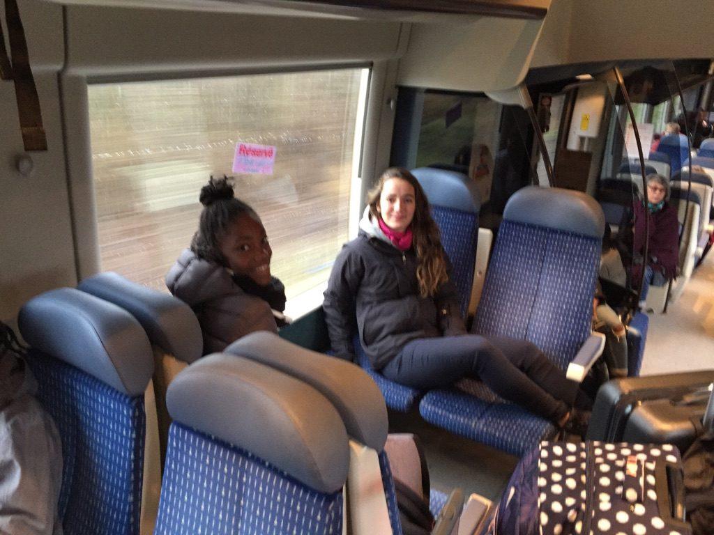 Dans le train direction Granville